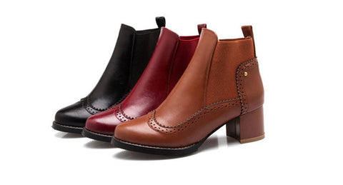 Womens Cute Vintage Casual Boots