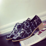 Womend Leopard Print Casual Heel Boots