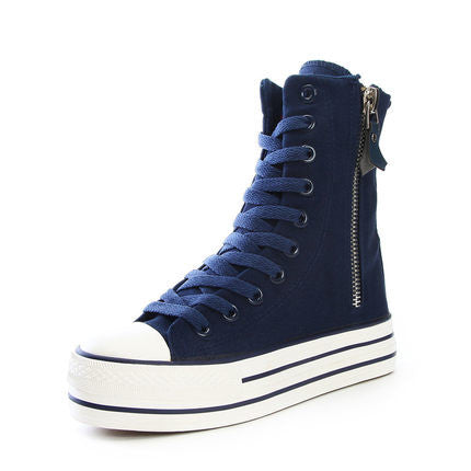 f747083c990 Womens Classic High-Top Side Zip Sneakers