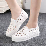 Womens Fun Cut Out Slip-On Sneakers