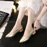 Womens Stylish Low Wooden Heels