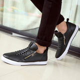 Mens Trendy Side Zipper Low Casual Shoes