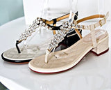 Womens Stunning Jewel Heel Sandals