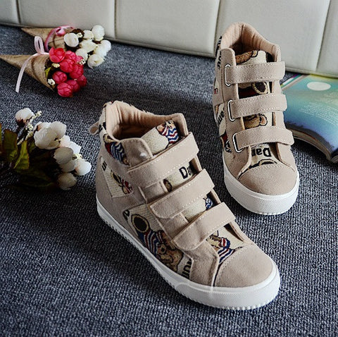 eb94d296e92 Womens Trendy Canvas Velcro High-Top Sneakers