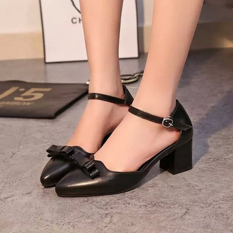 Womens Popular Ribbon Work Dress Heels