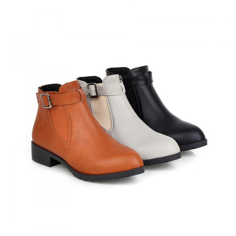 Womens Cool Ankle Strap Ankle Boots