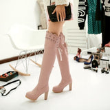 Womens Knee High Elegant Heel Boots