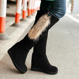 Womens Lovely High Trendy Wedge Boots