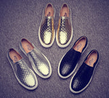 Mens Classic Woven Style Slip-On Casual Shoes