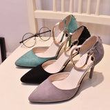 Womens Trendy Metal Ankle Heels