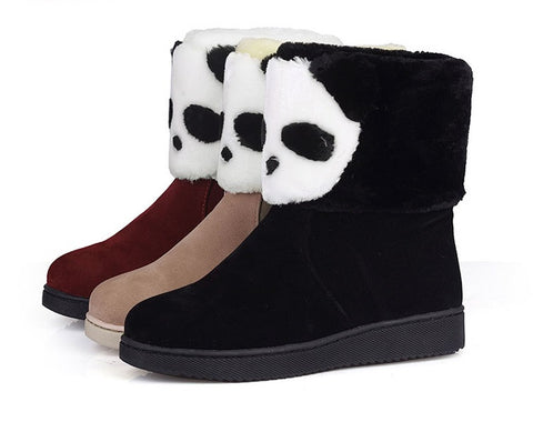Womens Cute Cool Panda Winter Boots