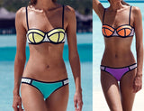 Womens Sexy Patchwork Color Swimsuit Bikini