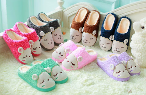 Womens Lovely Sheep House Slippers