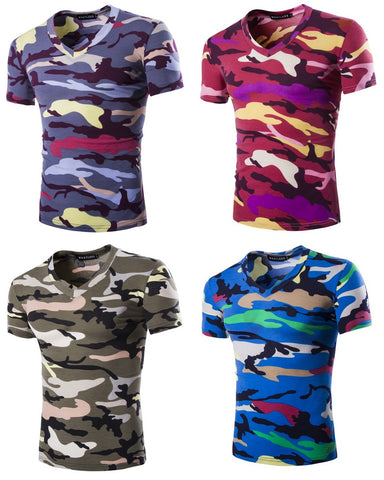 Mens Modern Camo Stylish Camouflage T-Shirt