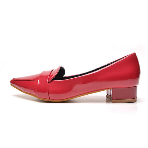 Womens Classy Pointy Tip Office Low Heels