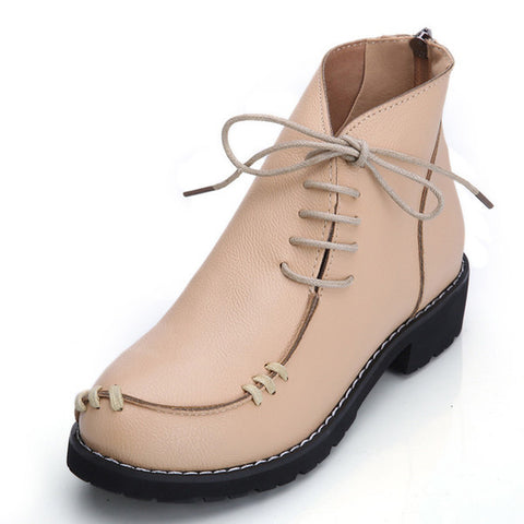 Womens Unique Stitch Casual Boots