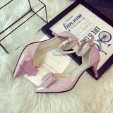 Womens Close Toe Bow Kitten Heels