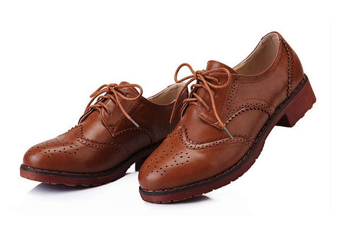 Womens Cute Classic Oxford Boots