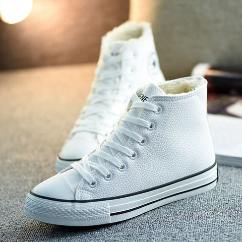 a6f4b80993b Womens Fur Lined High-Top Sneakers – ShoeSity
