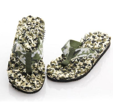 Mens Cool Camo Thong Slippers