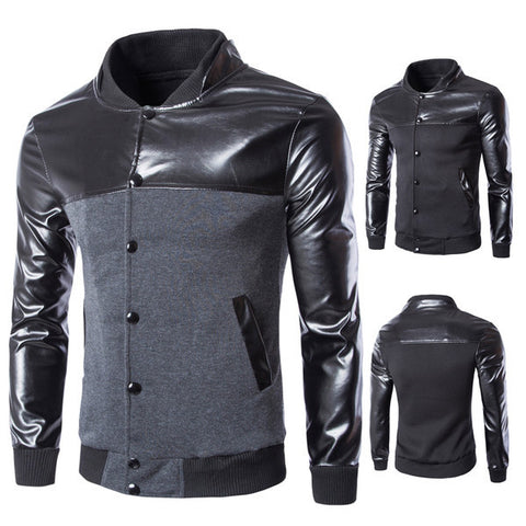 Mens Trendy Slim Long Sleeve Jacket