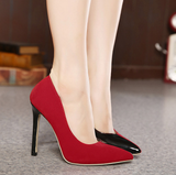 Womens Two Tone Edgy High Heels