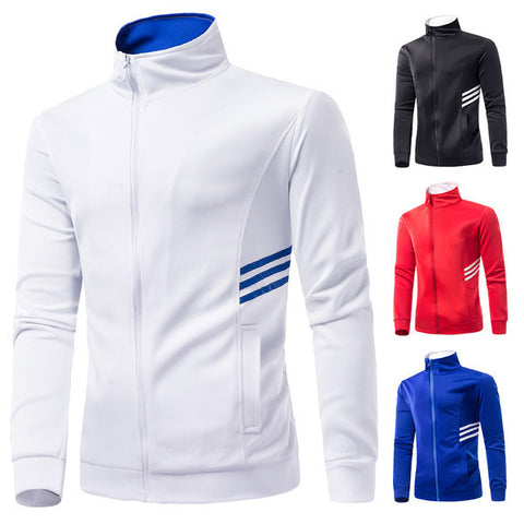 Mens Slim Sports Zip-Up Sweater