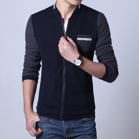 Mens Slim Zip-Up Sweater