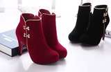Womens Fashionable Platform Bootie Heels