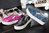 Womens Playful Design Slip-On Sneakers