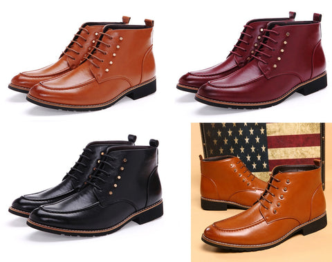 Mens Stylish Mid-Top Casual Dress Boots