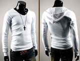 Mens Stylish Casual Long Sleeve Hoodie Shirt
