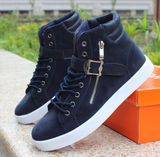 Mens Trendy High-Top Ankle Strap Sneakers