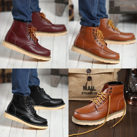 Mens Classic High-Top Rugged City Urban Boots