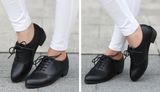 Womens Classic Lace Up Casual Heel Shoes