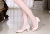 Womens Lovely Bow Ribbon Office Heels