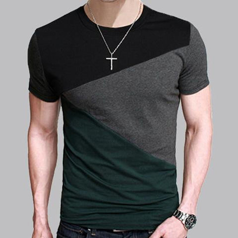 Mens 6 Designs Slim Fit Crew Neck T-Shirt