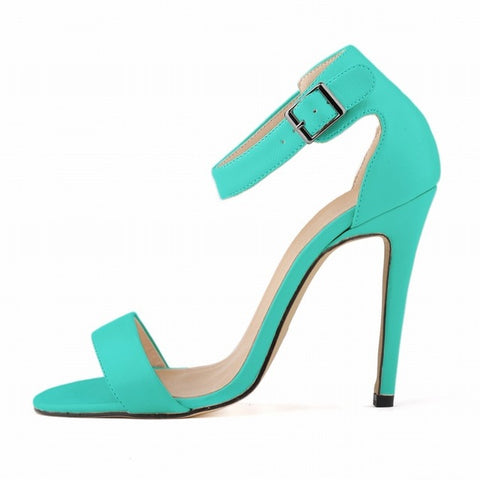Womens Sexy Ankle Strap Sandal High OL Buckle Dress Heels