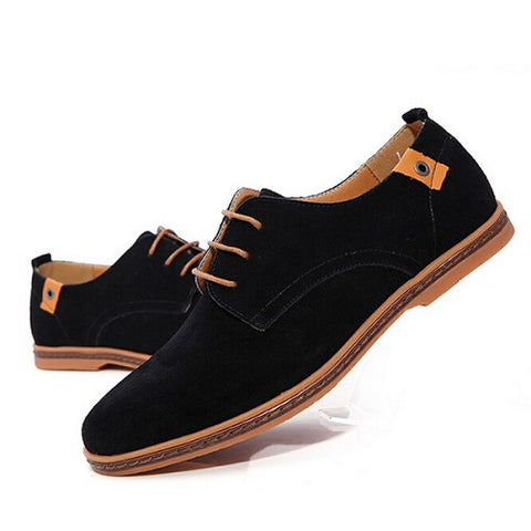 Mens Fashion Casual Lace Up Solid Color Boots