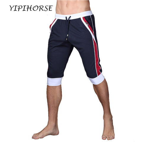 Mens Summer Sport Elastic Gym Workout Quick Dry Shorts