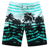 Mens Cool Summer Hawaiian Palm Tree Quick Dry Beach Shorts