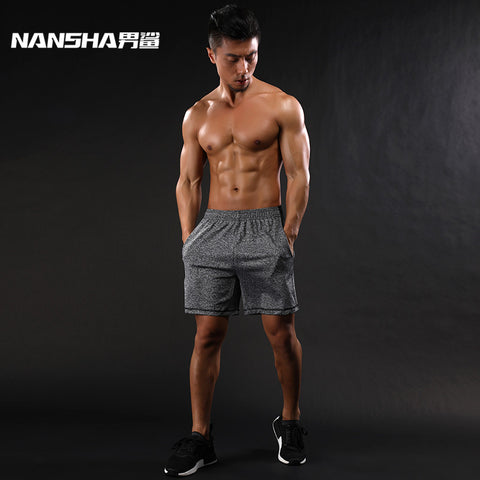 Men's High Waist Drawstring Loose Summer Beach Casual Running Breathable Elastic Shorts