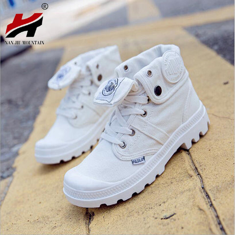 Women's Canvas Casual Breathable White Rugged Stylish Shoes