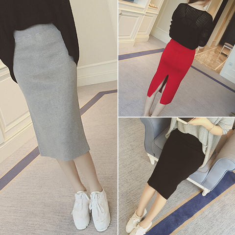Womens Hip Stretch Slim Waist Casual Skirt