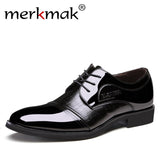 Mens Patent Leather Oxfords Flats Formal Classic Business Dress Shoes