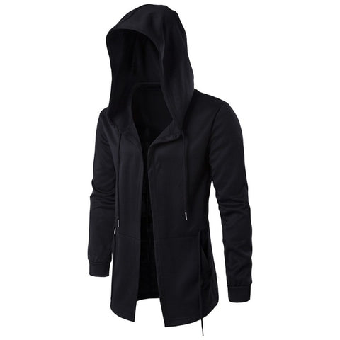 Mens Fashion Hooded Sweatshirts Hip Hop Mantle Jacket Long Sleeve Cloak Coat Hoodie