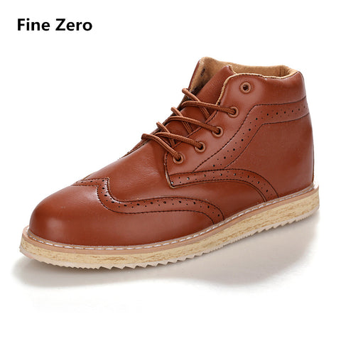 Mens Brogue Vintage Male Lace Dress High Top Boots