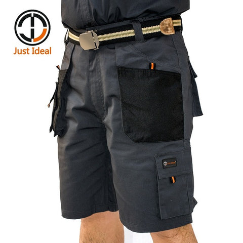 Mens Canvas Military Tactical Working Multiple Pockets Hard Wearing Shorts