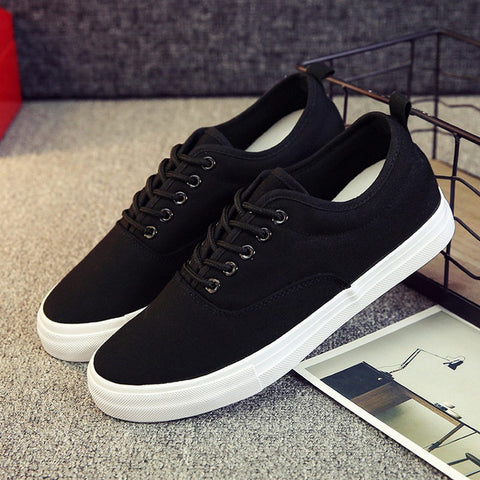 Mens  Lace Up Canvas Breathable Casual Shoes