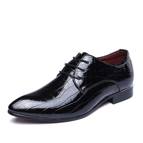 Mens New Men Pointed Toe Glossy Leather Party Work Bussiness Dress Shoes